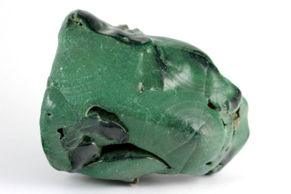 マラカイト (孔雀石) 原石 一面磨き 114g