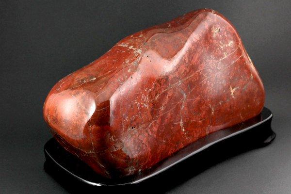 ジャスパー 置石 4.9kg 【佐渡の赤玉石】