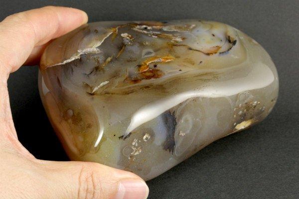 アゲート(瑪瑙) 原石 磨き 591g