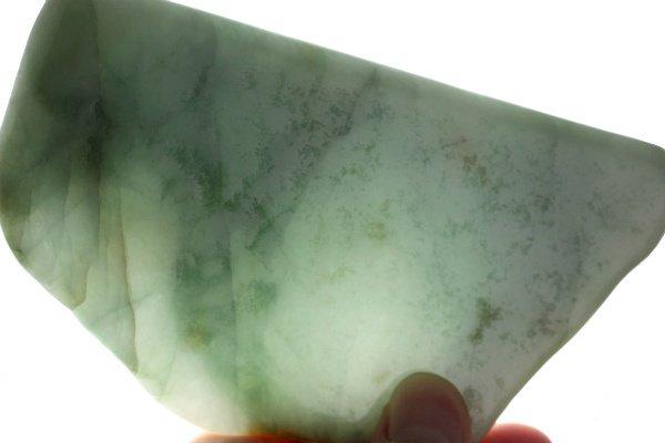 ミャンマー産 翡翠 原石 磨き 276g