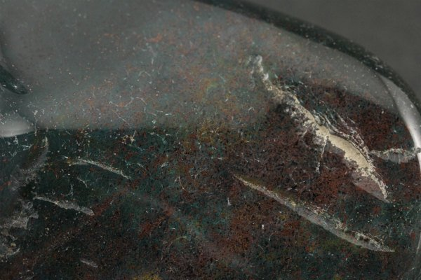 ブラッドストーン 原石 磨き 122g