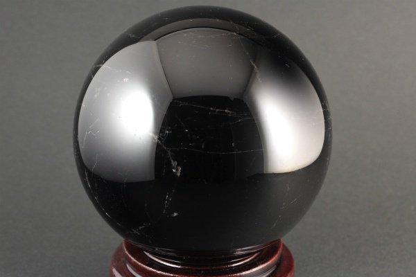 スター入り黒水晶 丸玉 132mm