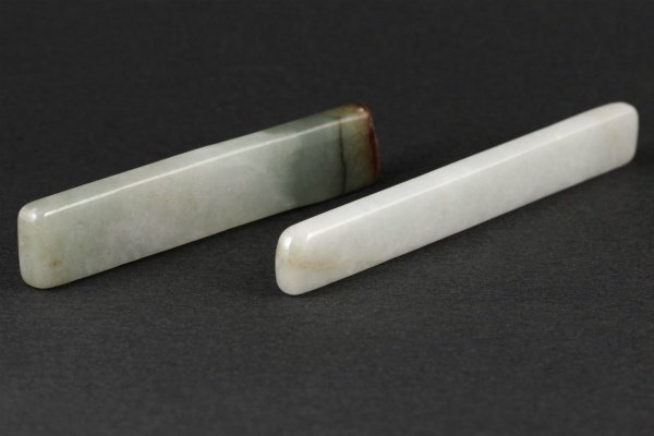 ミャンマー産 翡翠 原石 磨き 2個セット 58g