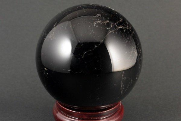 スター入り黒水晶 丸玉 77mm