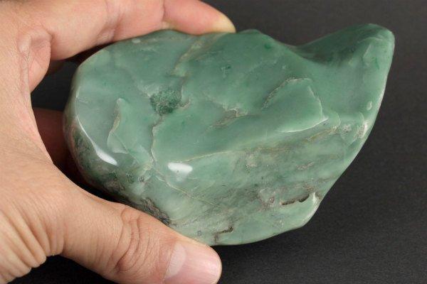 アフリカンジェイド 原石 磨き 255g