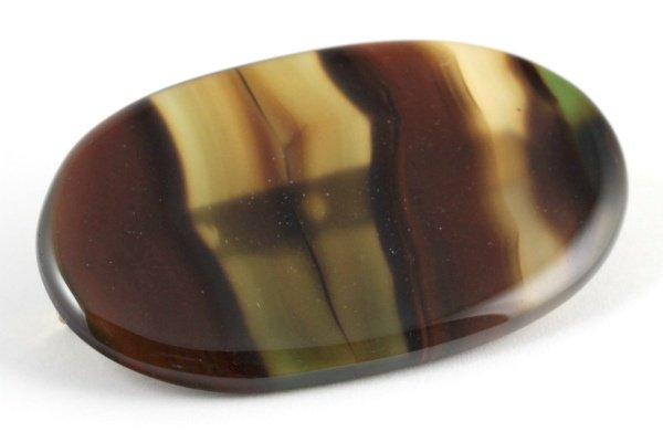 天然石ブローチ モンタナアゲート(小判型)