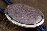 ループタイ フレーム付き 紫金石