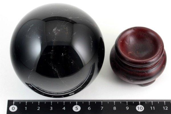 スター入り黒水晶 丸玉 55mm