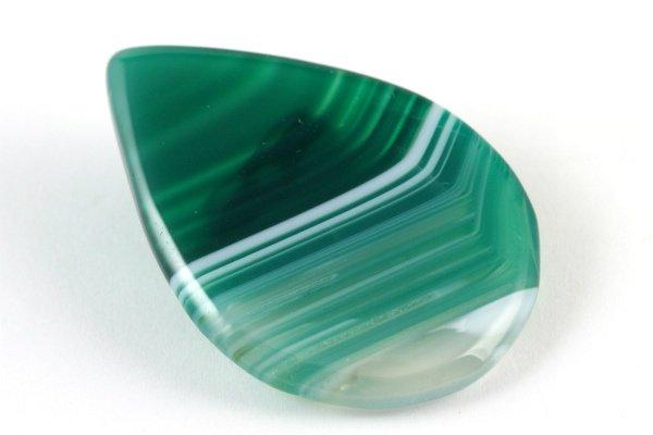 天然石ブローチ 縞クリソ(しずく型)