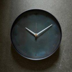 bowlpond / ボウルポンド<br/>時計(大) 黒皮 青焼き 数字