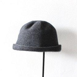 mature ha. / マチュアーハ<br/>ベルハット bell hat cashmere & lamb チャコール