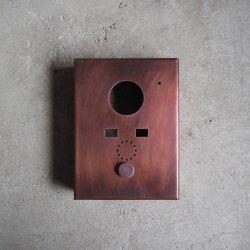 bowlpond / ボウルポンド<br/>インターフォンカバー  銅 古美色