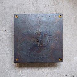 bowlpond / ボウルポンド<br/>オーダー表札 鉄 黒皮 冷熱鍛造