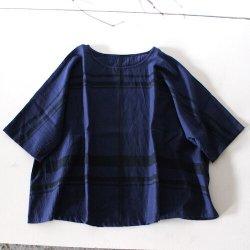 【30% OFF】玉木新雌 / tamaki niime<br/>basic wear fuwa T(フワT )ハーフスリーブ(ネイビー)