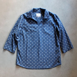 【60% OFF】Honnete / オネット<br/>3/4スリーブリネンプルオーバーシャツ