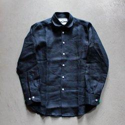 【saleセール】James Mortimer/ジェームスモルティマー<br/>アイリッシュリネン ラウンドカラーシャツ(レディース)