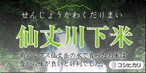 【産地限定】2020年産の仙丈川下米(せんじょうかわくだりまい)こしひかり5kg