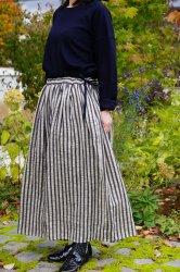 tumugu(ツムグ)リネンウールストライプスカート