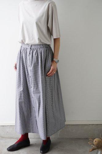 MidiUmi(ミディウミ) フロントボタンフレアスカート