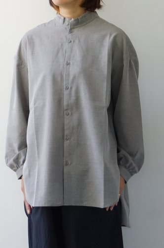 LAITERIE(レイトリー) プレミアムコットンツイル フリルシャツ