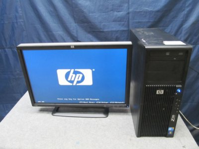 中古パソコンHP Z200 Workstationwin7pro ZR24W付属 Core i5 3.2GHZ HDD 500GB/メモリ 4G_20151118