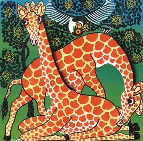 ティンガティンガ・アート 1277「キリン...