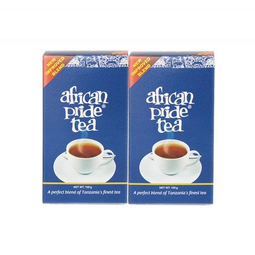 2個でお買い得!★2018パッケージリニューアル★アフリカンプライド<リーフ>アッサム種タンザニア紅茶自然栽培まろやかでくせのない味と芳醇な甘い香り