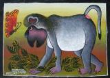 ティンガティンガ・アート 95「サル」by アモンデMサイズ