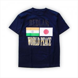 <img class='new_mark_img1' src='http://www.blockbasta.com/img/new/icons2.gif' style='border:none;display:inline;margin:0px;padding:0px;width:auto;' />BEDLAM / Navy World Peace S/S Tee