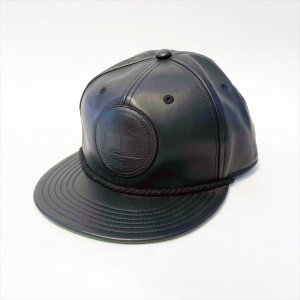 ONLY13 × NEMES / Leather snapback CAP. BLACK
