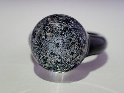月の指輪(ブラック・ドームタイプ)