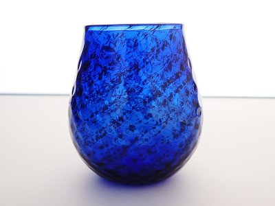 隕石グラス(波模様・左巻き)