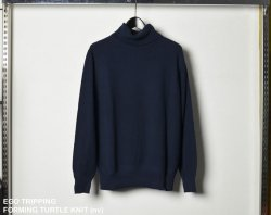[ EGO TRIPPING ] フォーミングタートルニット / FORMING TURTLE KNIT (navy)