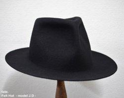[ fate. ] フェルトハット - モデル J.D- / Felt Hat -model J.D- (black)