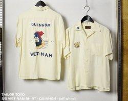 [ TAILOR TOYO ]   半袖ベトナムシャツ - クイニョン - (TT-37602) / S/S VIET-NAM SHIRT - QUINHON - (white)/