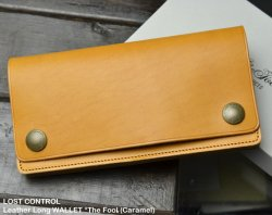[ LOST CONTROL ] レザーロングウォレット / Leather Long WALLET *The Fool (Caramel)