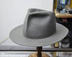 [ fate. ] フェルトハット - モデル J.D- / Felt Hat -model J.D- (gray)