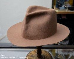 [ fate. ] フェルトハット - モデル J.D- / Felt Hat -model J.D- (brown)