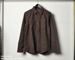 [ lost control ] ウールコットンブラッシュドツイルシャツ / WC Bruched Twill Shirt (Burgundy)