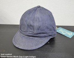 [ lost control ] カラーデニムワークキャップ / Color Denim Work Cap (light indigo)