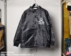 [ PROPA9ANDA ] ステイリアルコーチジャケット / STAY REAL COACH JACKET (Black)