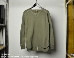[ GERUGA ] タックインサーマルカットソー / TUCK IN THERMAL C-T  (smoke-green)