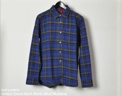 [ lost control ] オンブレチェックワークシャツ / Ombre Check Work Shirts (Blue*Mustard)