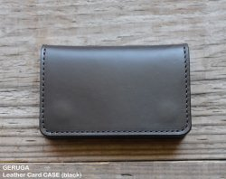 [ GERUGA ] レザーカードケース / Leather Card CASE (black)