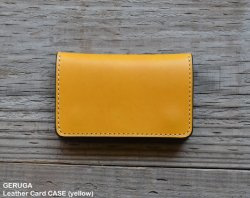 [ GERUGA ] レザーカードケース / Leather Card CASE (yellow)