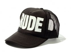 [ RUDE GALLERY ] レザールードメッシュキャップ / LEATHER RUDE MESH CAP (white)