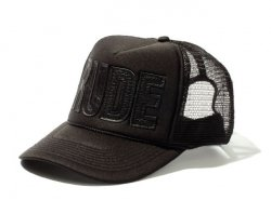 [ RUDE GALLERY ] レザールードメッシュキャップ / LEATHER RUDE MESH CAP (black)