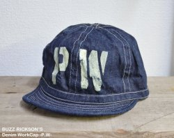 [ BUZZ RICKSON'S ] デニムワークキャップ / Denim WorkCap -P.W-