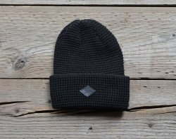 [ RUDE GALLERY BLACK REBEL ] ワッフルステッチニットキャップ/ WAFFLE STITCH KNIT CAP (black)