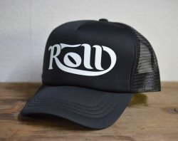 [ ROLL ] カーシヴ ロウルメッシュキャップ /Cursive ROLL Mesh Cap 2nd(black)